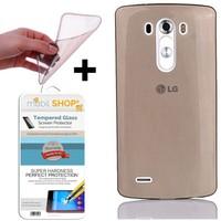Mobil Shop LG G3 Kılıf 0.2MM Silikon (Kırılmaz Cam)