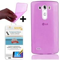 Gpack LG G4 Beat Kılıf 0.2MM Silikon (Cam)