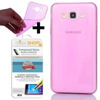 Gpack Samsung Galaxy E7 Kılıf 0.2MM Silikon (Cam)