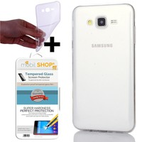Mobil Shop Samsung Galaxy J2 Kılıf 0.2MM Silikon (Kırılmaz Cam)