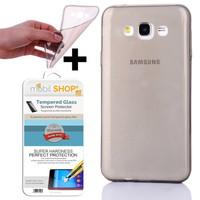 Mobil Shop Samsung Galaxy Grand Prime Kılıf 0.2MM Silikon (Kırılmaz Cam)