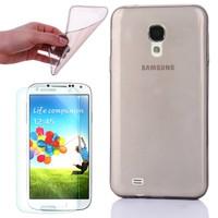 Mobil Shop Samsung Galaxy S4 Kılıf 0.2MM Silikon (Kırılmaz Cam)