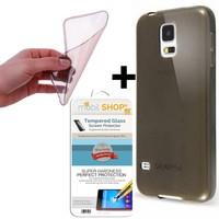 Gpack Samsung Galaxy S4 Mini Kılıf 0.2MM Silikon (Cam)