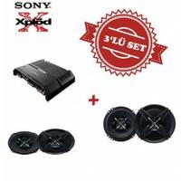 Sony XM-GS4 4 kanal Amfi, Mega Bass XS-XB690 6x9 Oval ve XS-XB160 16cm Hoparlör Seti