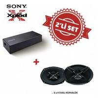Sony XM-S400 Amfi ile XS-XB690 6x9 Oval Mega Bass Hoparlör Set