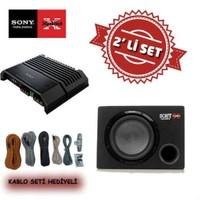 Sony XM-GS4 4 kanal Amfi ile XS-GSW121 Kabinli Subwoofer Set. Kablo Seti