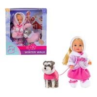Simba 5735996 Evı Love Winter Walk 12 Cm Doll In
