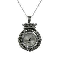 Ejoya Gümüş Saat Kolye