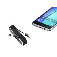 Toptancı Kapında Android Örgü Şeklinde Renkli Çelik Şarj Data Kablosu - Siyah