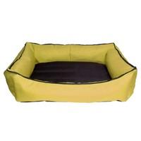 Bronza Su Geçirmez Kedi-Köpek Yatağı No: 1 50x60x15 Sarı