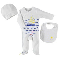 Hello Baby&Kids Yelkenli Patikli Tulum Set