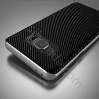 Case 4U Samsung Galaxy Note 7 Hybrid Korumalı İnce Arka Kapak Gümüş