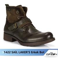 Sail Lakers 1422 Yeşil Orjinal Hakiki Deri Erkek Bot