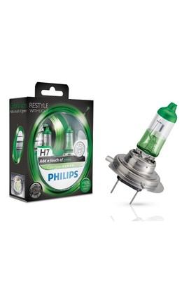 Philips H7 Color Vision Far Ampulü Yeşil