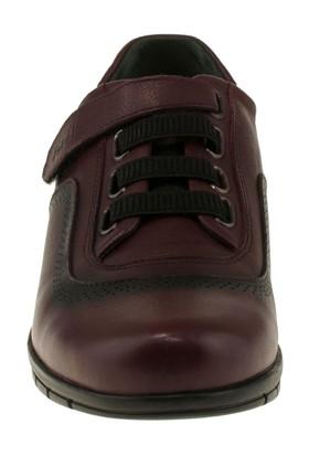 Forelli 23415 Tek Cirt Comfort Bordo Kadın Ayakkabı