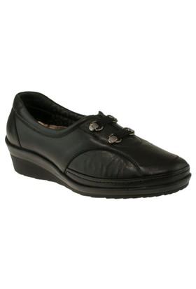 Forelli 26201 Cift Flex Bantli Comfort Siyah Kadın Ayakkabı