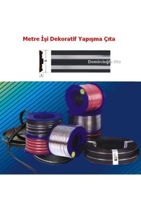 Demircioğlu 5 Metre Çıta Siyah Ve Nikel Şerit Model 28Mm