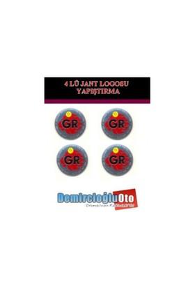 Demircioğlu Gr Logolu Aluminyum Jant Göbeği Logo 4'lü Yapıştırma Otdmspc07