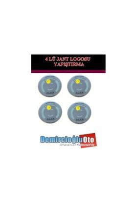 Demircioğlu Alex Logolu Aliminyum Jant Göbeği Logo 4'lü Yapıştırma Otdmspc01