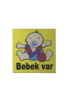 Demircioğlu Emzikli Arabada Bebek Var Vantuzlu Levha Bordo Mavi
