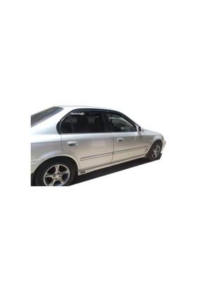 Door Visor Honda Civic 1996 - 2000 Arası Mugen Model Ön Arka Set Cam Rüzgarlığı