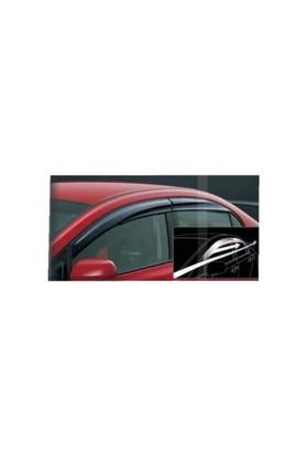 Door Visor Ford Fiesta 2009 - 2011 Arası Mugen Model Cam Rüzgarlığı Ön Arka Takım