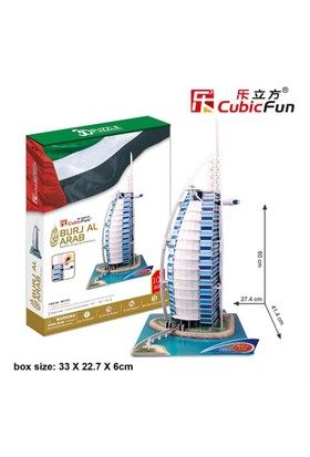 Cubic Fun 3D 101 Parça Puzzle Burj Al Arab