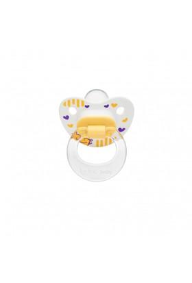 Wee Baby Desenli Damaklı Emzik 6-18Ay - Sarı