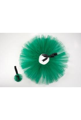 McBaby Tütü Etek+Saç Bandı Bağlama Yeşil