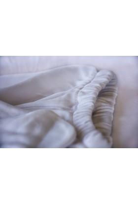 McBaby Patikli Pantolon Penye Kuzu Baskılı Beyaz