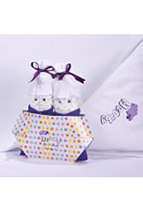 McBaby Şirin Bez Parmak Bebekler Mor/Beyaz