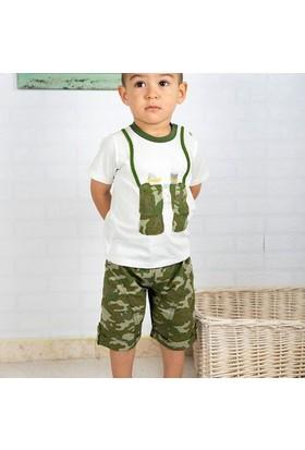 Wonder Kids Şort - T-Shirt Camp 2li Bebek Seti