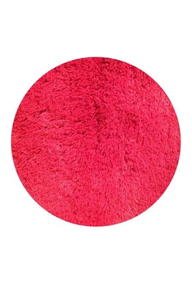 MarkaEv Dekoratif Tavşan Tüyü Kırmızı Halı 140x140 cm