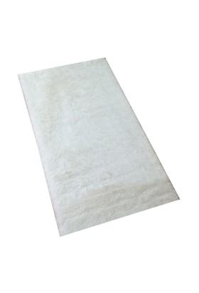 MarkaEv Dekoratif Tavşan Tüyü Beyaz Halı 100x140 cm