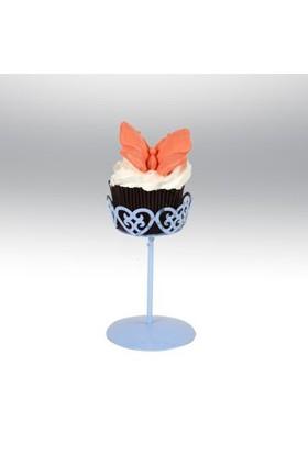 Tahtakale Toptancısı Tekli Metal Cupcake Standı Mavi
