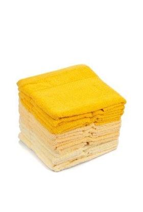 Soley 12`li 30x30 Orient Havlu Seti Sarı