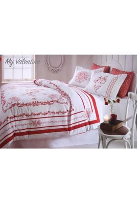 Özdilek Çift Kişilik Ranforce Pamuklu Nevresim Takımı My Valentine -Kırmızı