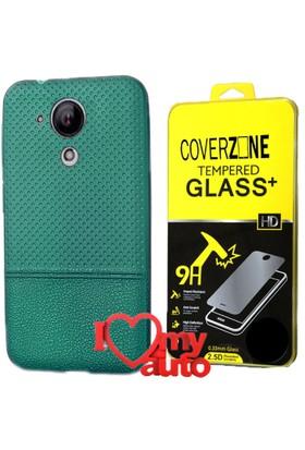 CoverZone Casper Via E1 Kılıf Dot Silikon Yeşil + + 3d Araç Kokusu