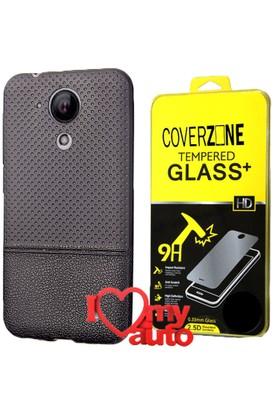 CoverZone Casper Via E1 Kılıf Dot Silikon Siyah + + 3d Araç Kokusu