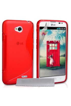 CoverZone LG L70 Kılıf Silikon S-Line Kırmızı
