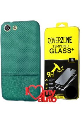 CoverZone Turkcell T70 Kılıf Dot Silikon Yeşil + + 3d Araç Kokusu