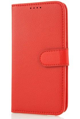 CoverZone Nokia X Kılıf Cüzdan Yan Kapaklı Kırmızı
