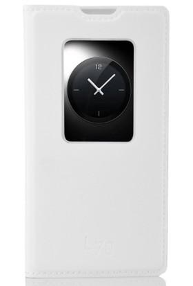 CoverZone LG L70 Kılıf Flip Cover Beyaz