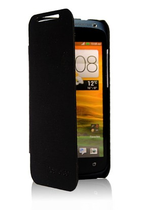 CoverZone HTC Desire 601 Kılıf Flip Cover Siyah