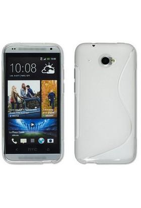 CoverZone HTC Desire 601 Kılıf Silikon S-Line Beyaz