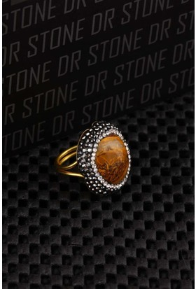 Dr Stone Doğaltaş -Kadın Akik Yüzük 20Ar488