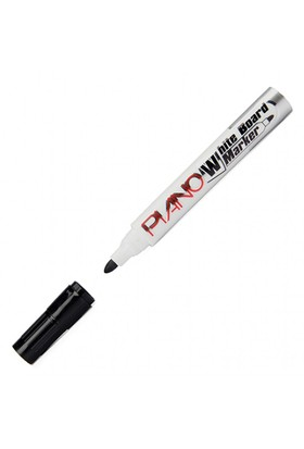 Piano 36 Adet Siyah Renk Beyaz Yazı Tahtası Kalemi (Board Marker) - Brons 1 Adet Tahta Silgisi