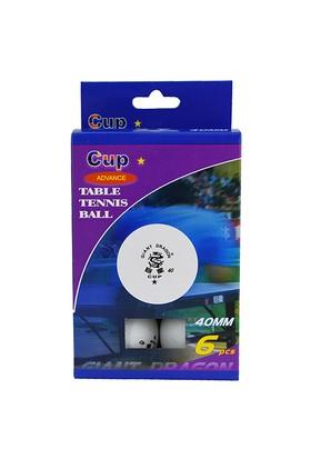 Spor724 Giant Dragon Cup 1 Yıldız Masa Tenisi Topu Beyaz