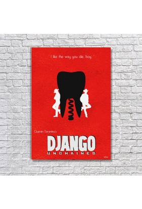 Albitablo Poster Love Django Unchained 1 Kanvas Tablo