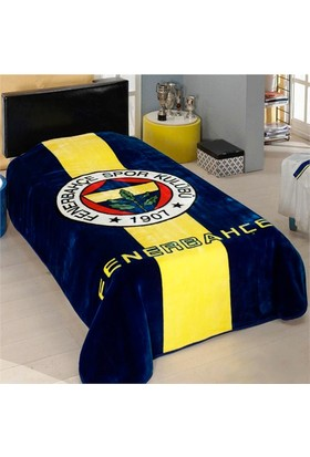 Merinos İpek Soft Fenerbahçe Logo Tek Kişilik Battaniye